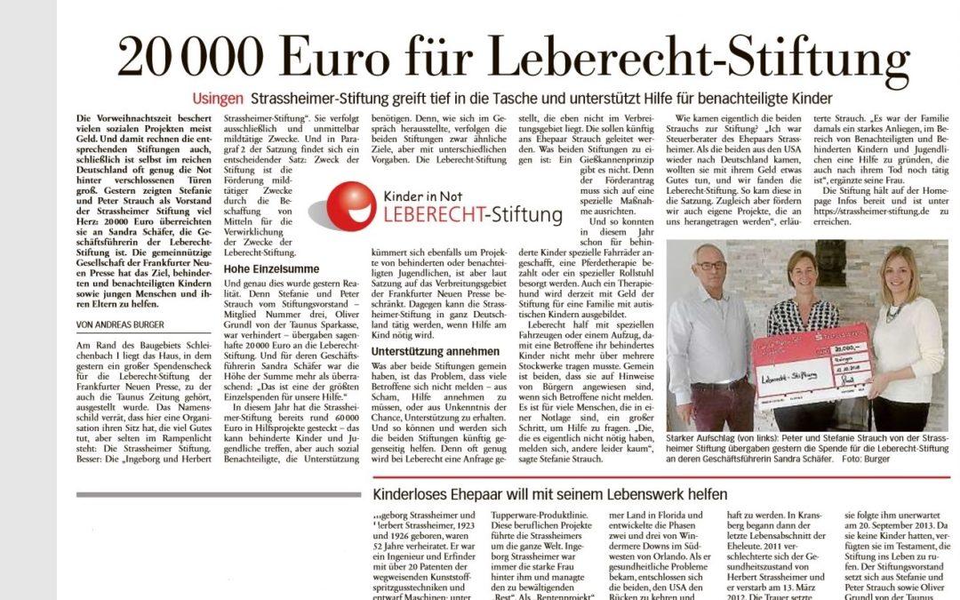 Spende an Leberecht-Stiftung