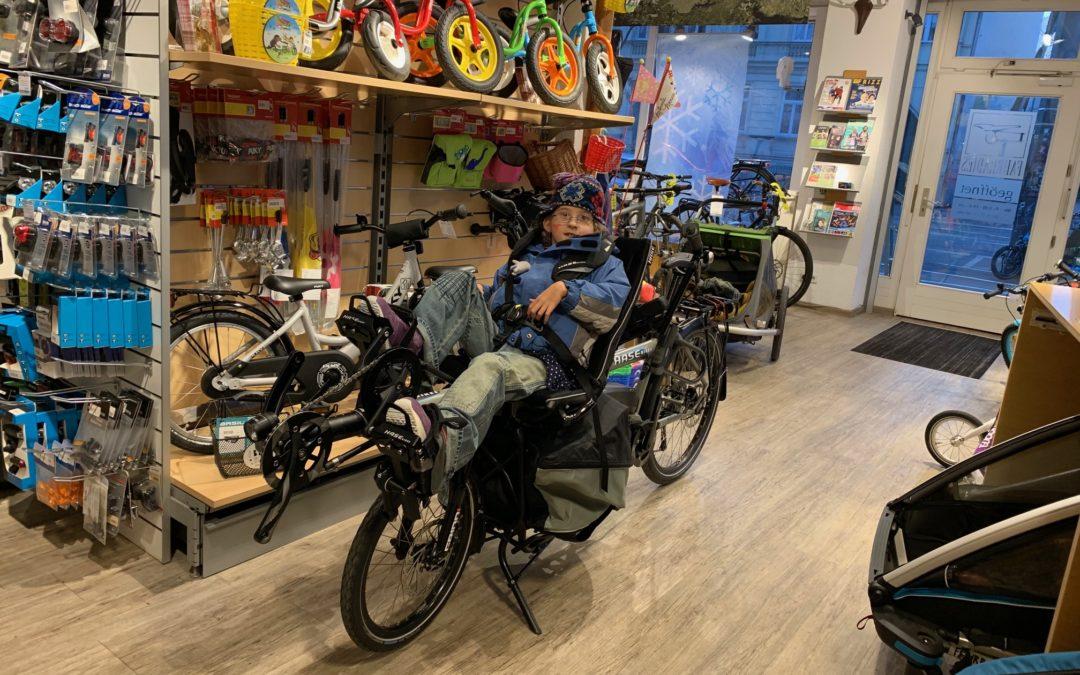 Johannas neues Pino-Therapie-Fahrrad